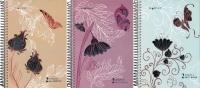 Тетрадь 100л линейка 145х210 мм Бабочки пластиковая обложка фольга на гребне 813011-95